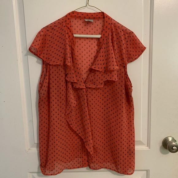 Worthington Tops - Woman's Worthington flutter sleeve blouse XL